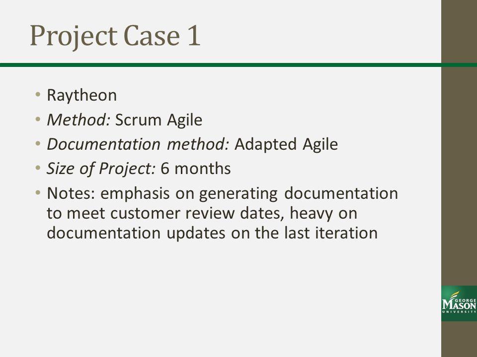 Project Case 1 Raytheon Method: Scrum Agile