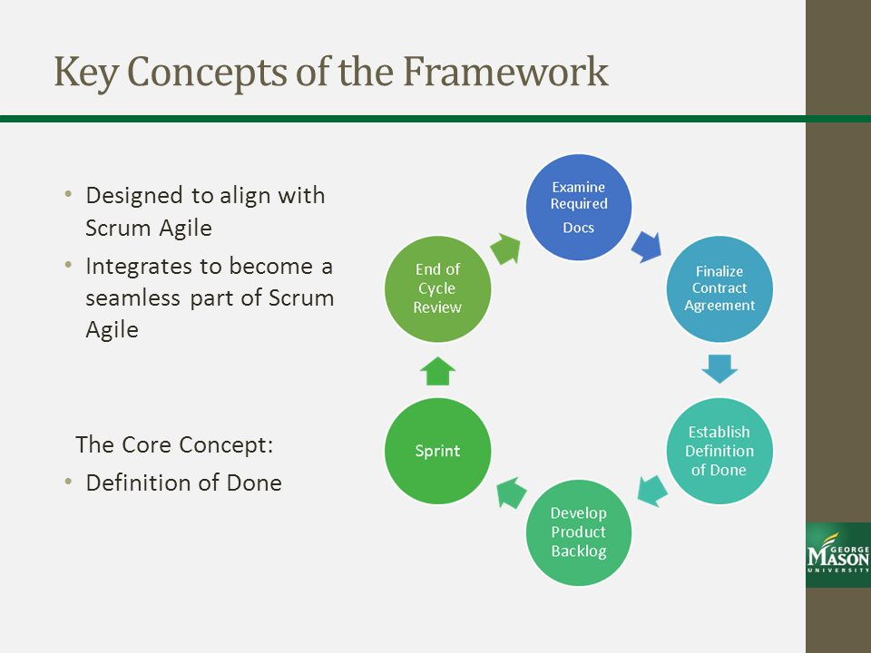 Key Concepts of the Framework