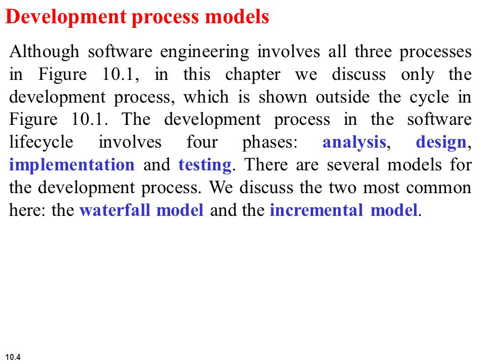 Development process models