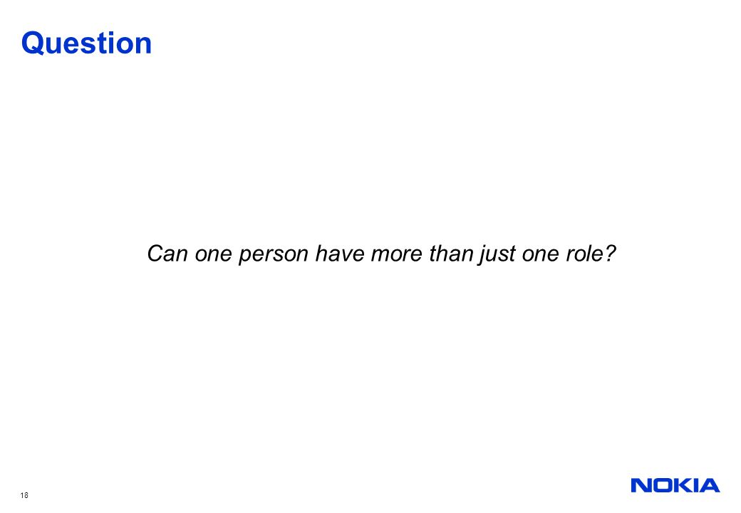 Can one person have more than just one role