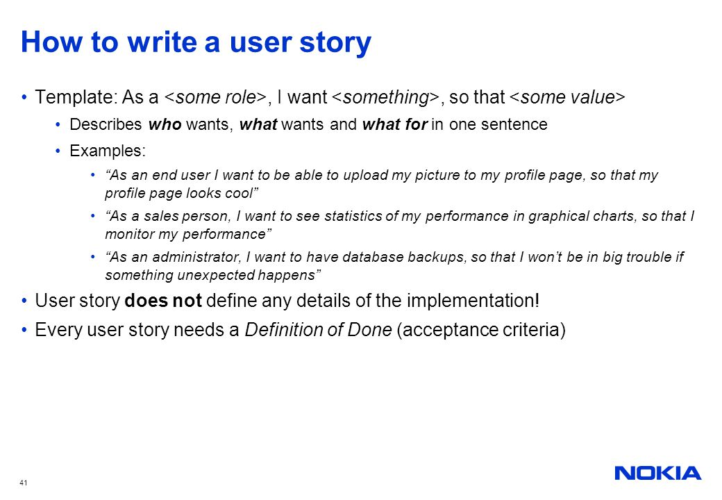 Something called agile ppt download for As a user i want user story template