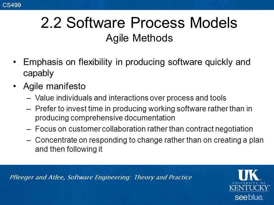2.2 Software Process Models Agile Methods