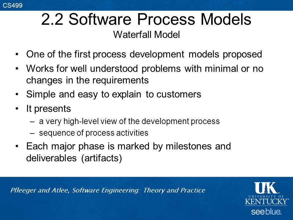 2.2 Software Process Models Waterfall Model