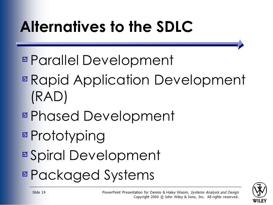 Alternatives to the SDLC
