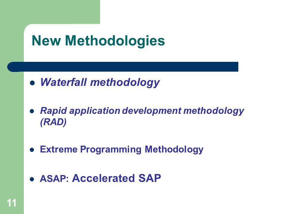 New Methodologies Waterfall methodology