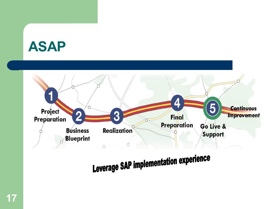 Leverage SAP implementation experience