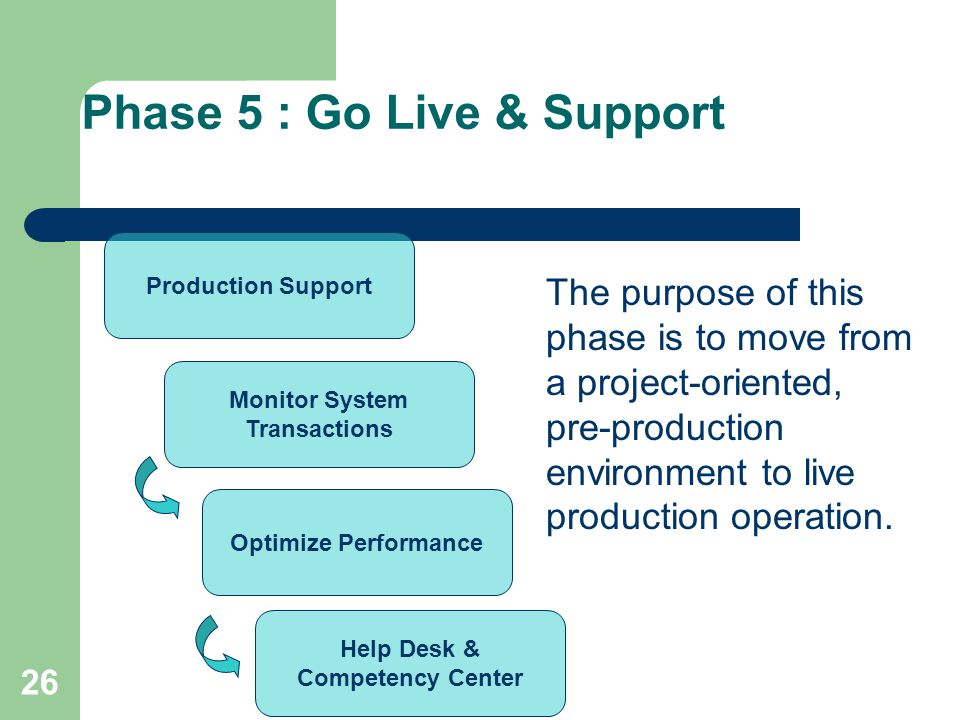 Phase 5 : Go Live & Support
