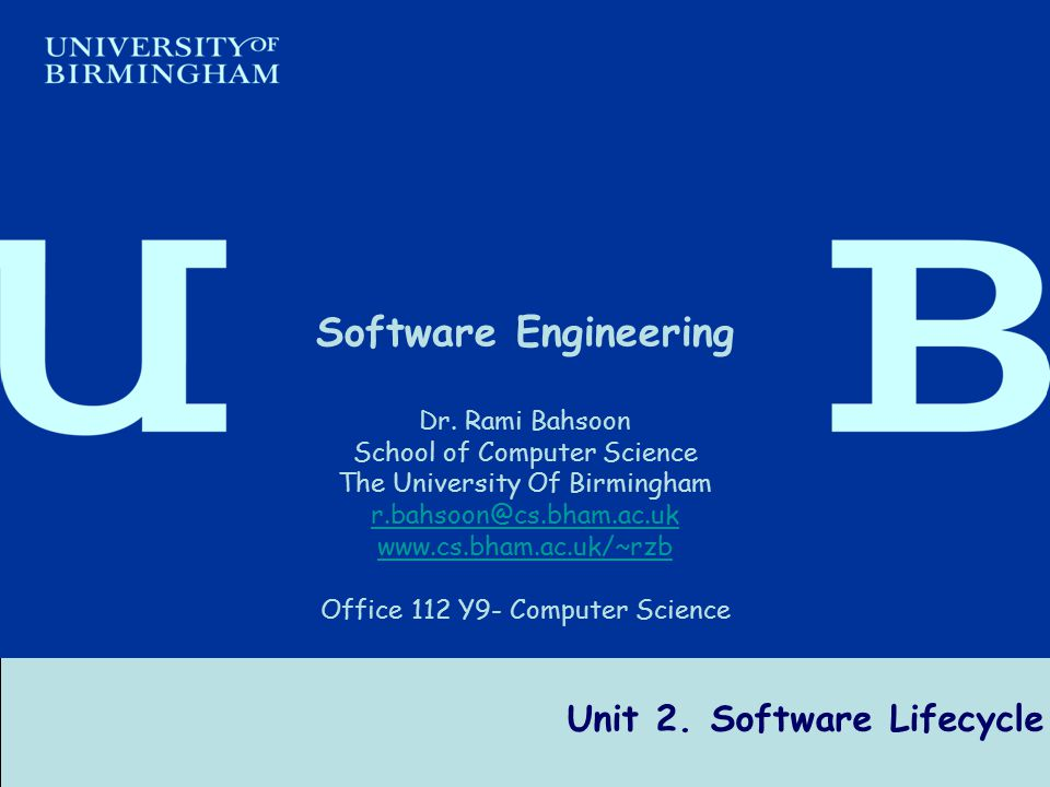 Unit 2. Software Lifecycle