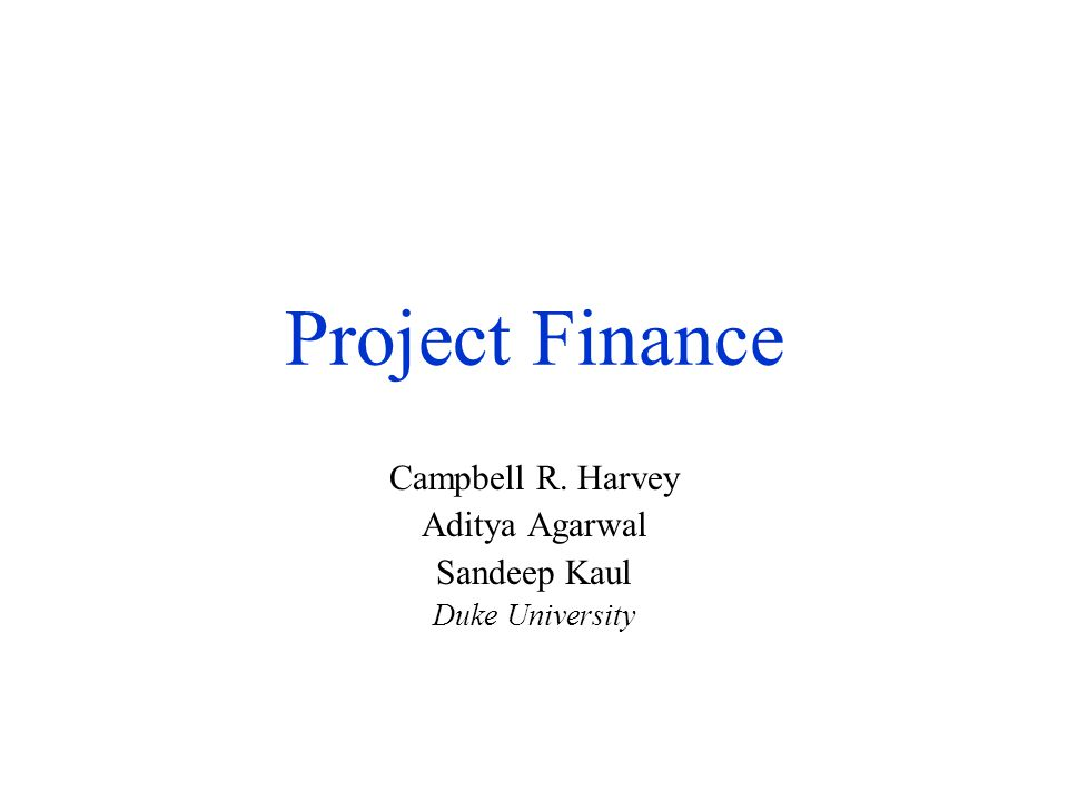 Campbell R. Harvey Aditya Agarwal Sandeep Kaul Duke University