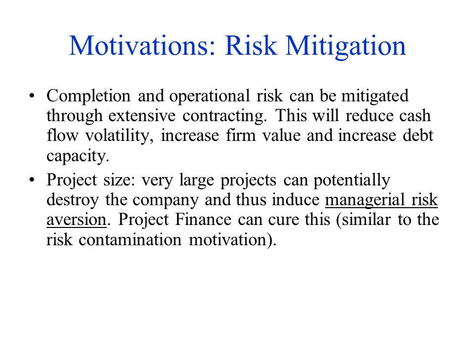 Motivations: Risk Mitigation
