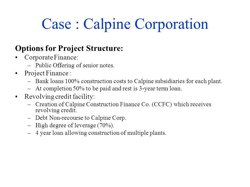 Case : Calpine Corporation