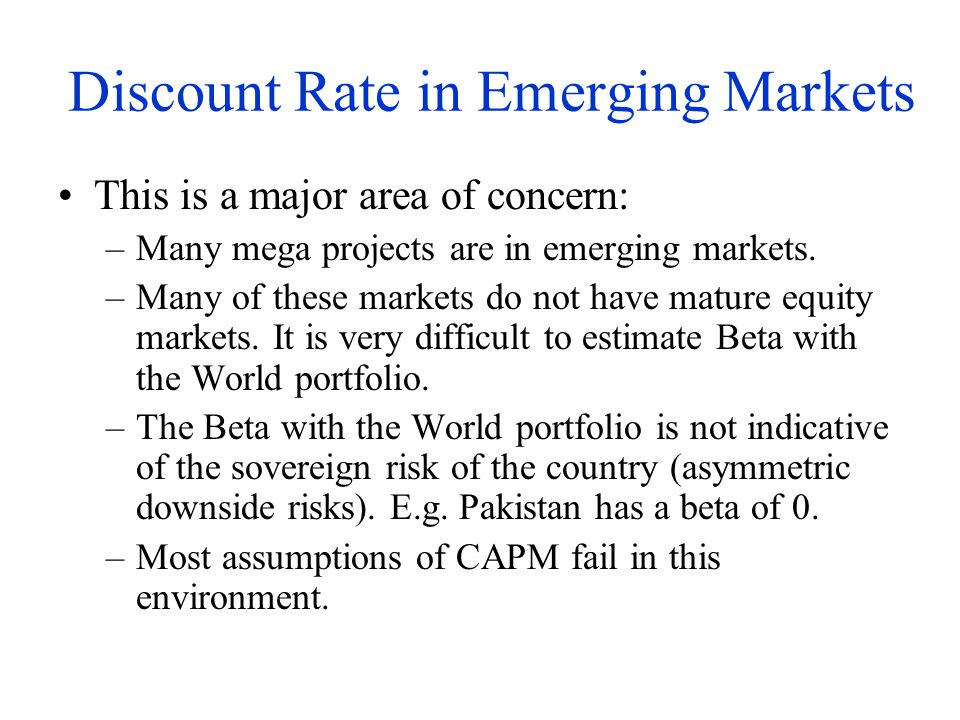 Discount Rate in Emerging Markets