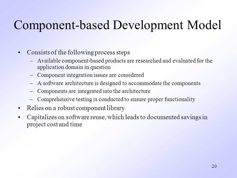 Component-based Development Model