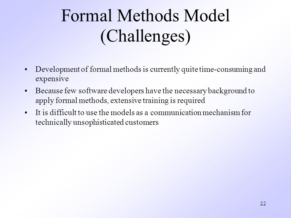 Formal Methods Model (Challenges)