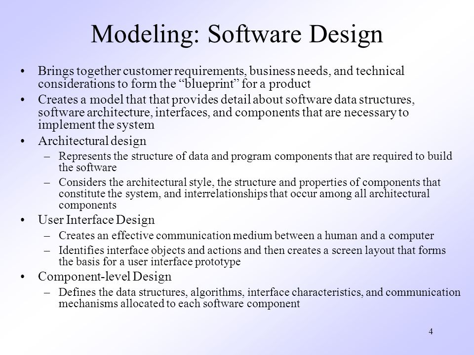 Modeling: Software Design