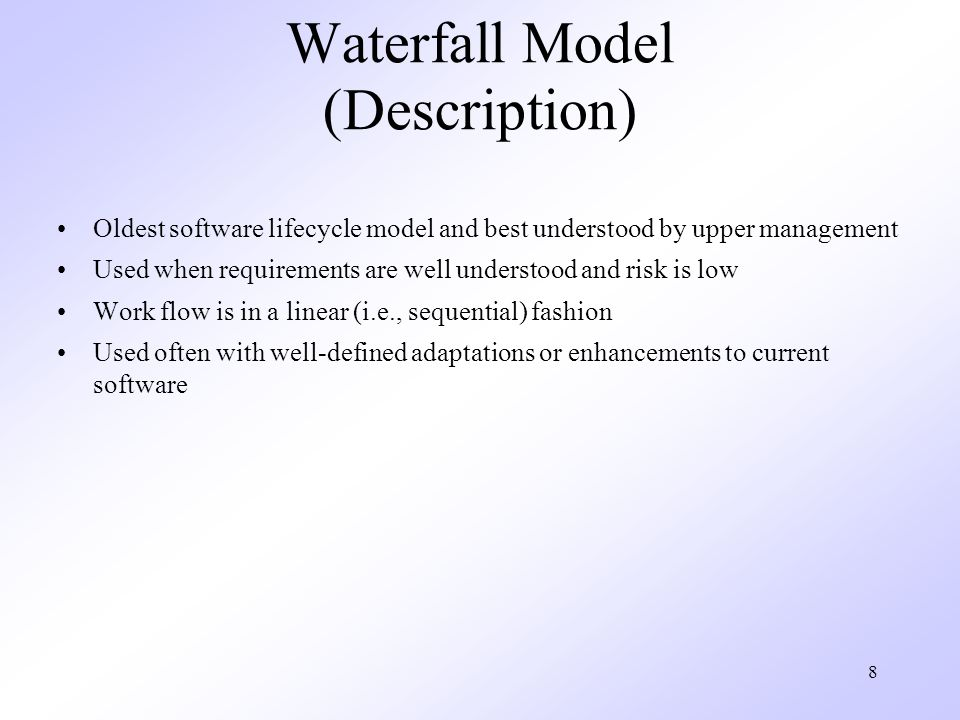 Waterfall Model (Description)