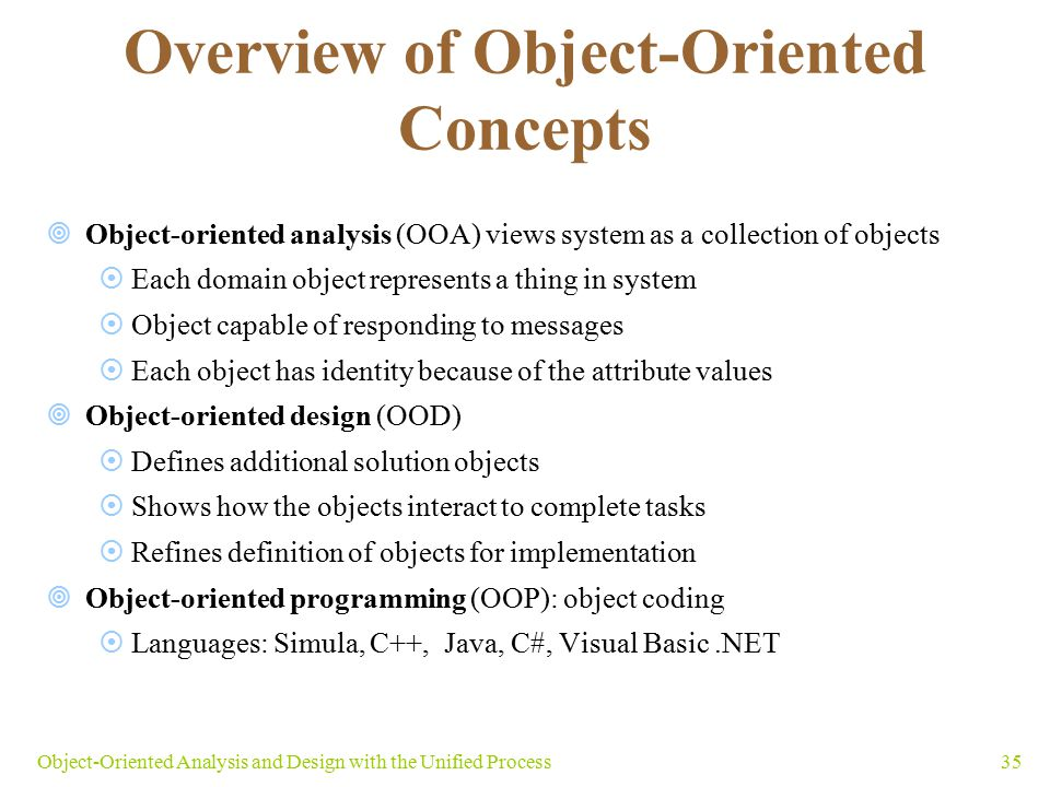 Overview of Object-Oriented Concepts