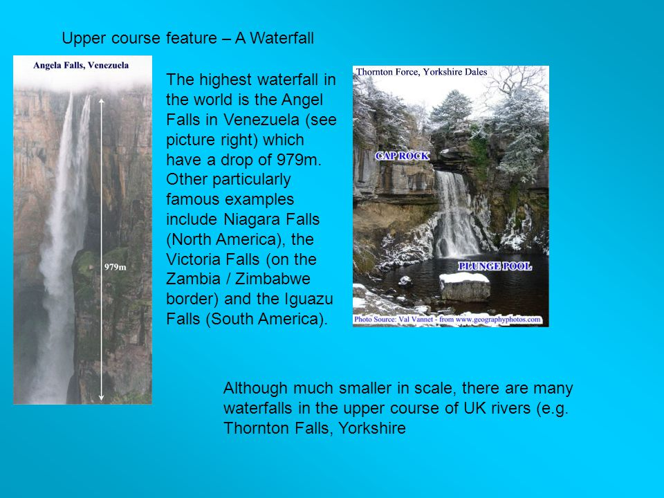 Upper course feature – A Waterfall