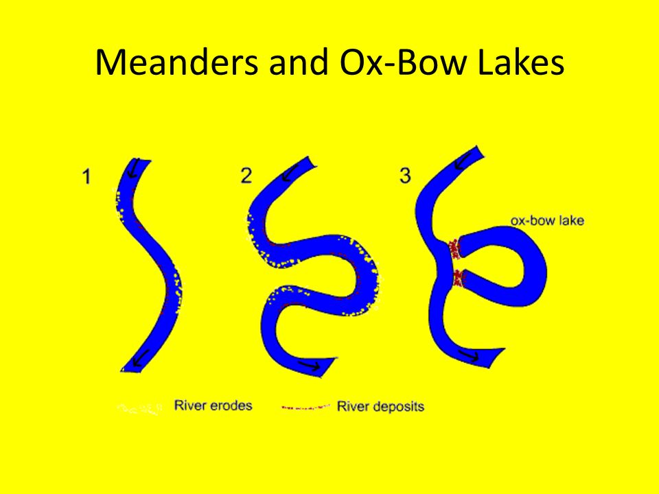 Meanders and Ox-Bow Lakes