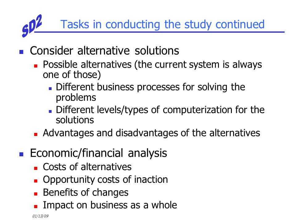Tasks in conducting the study continued