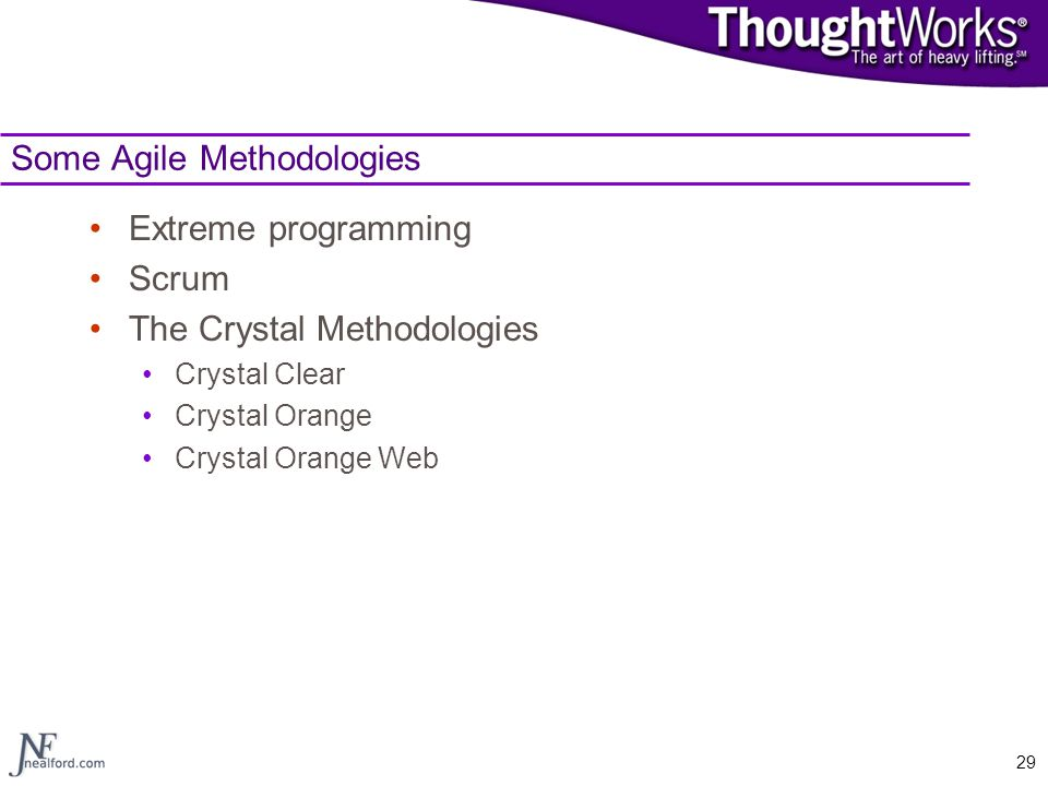 Some Agile Methodologies