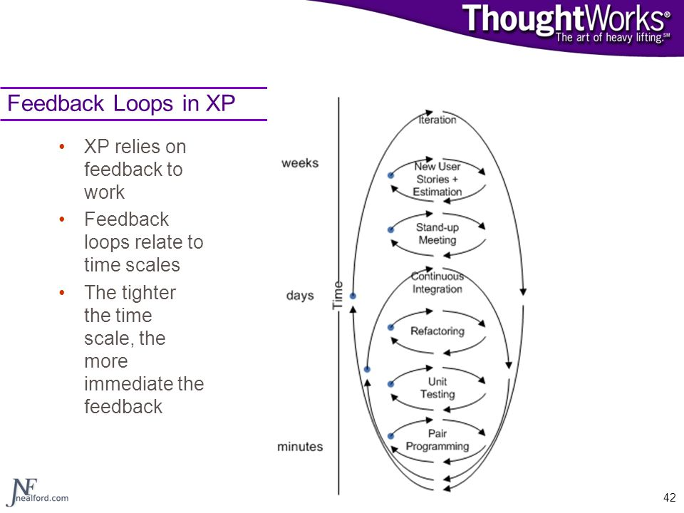 Feedback Loops in XP XP relies on feedback to work