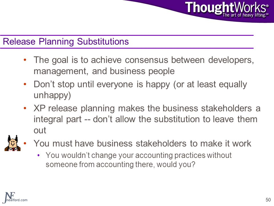 Release Planning Substitutions