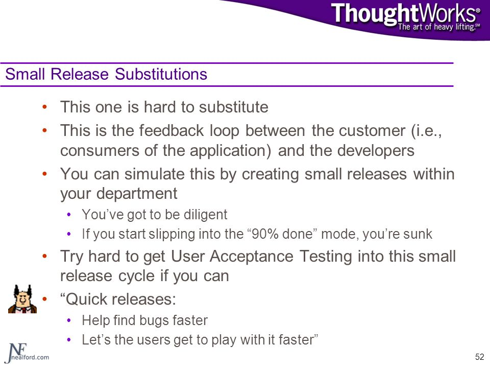Small Release Substitutions