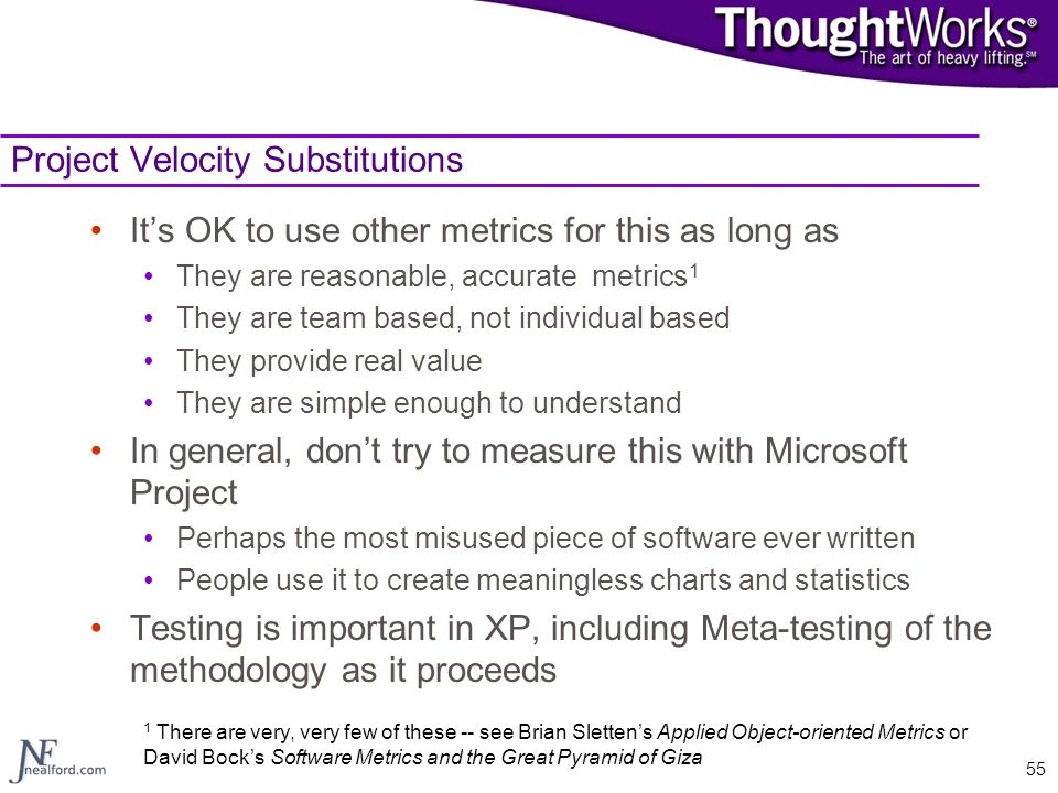 Project Velocity Substitutions