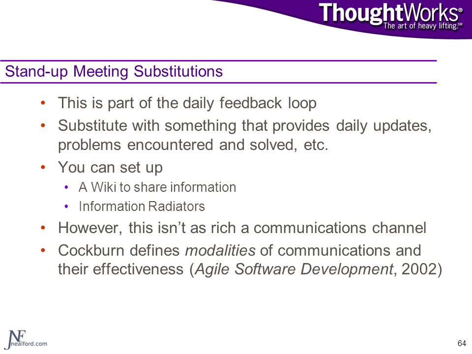 Stand-up Meeting Substitutions