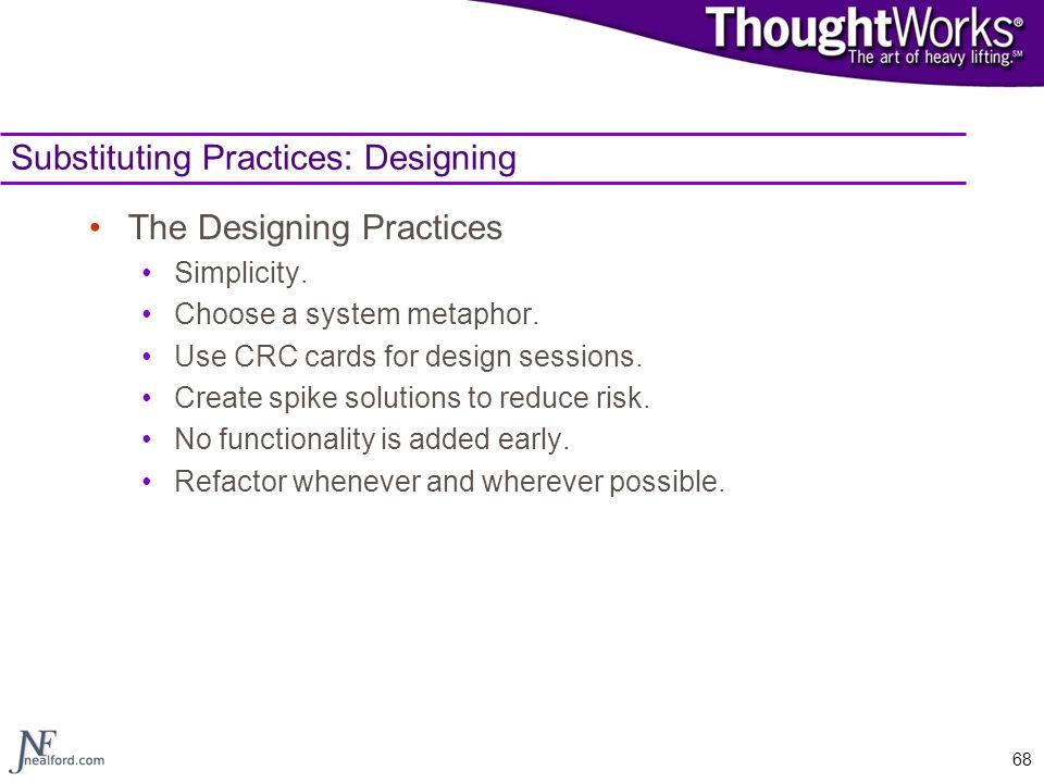 Substituting Practices: Designing