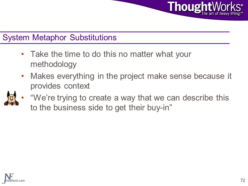 System Metaphor Substitutions