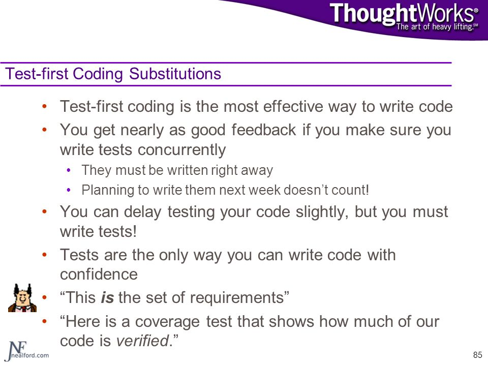 Test-first Coding Substitutions