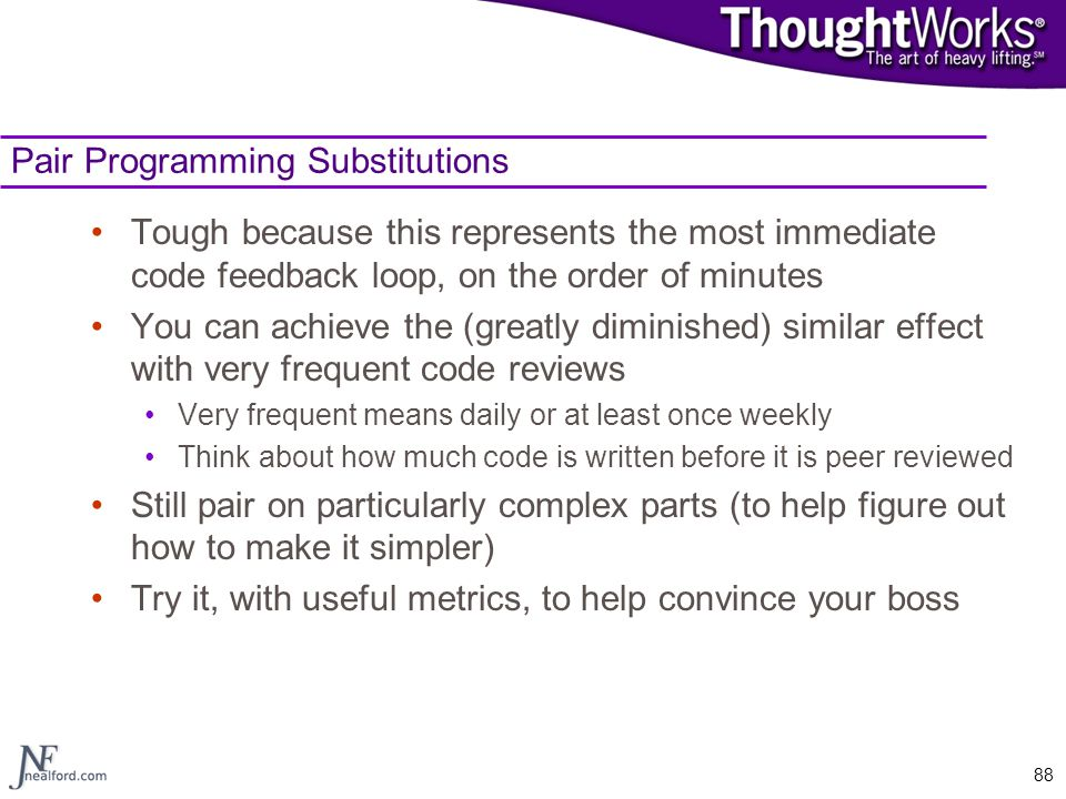 Pair Programming Substitutions