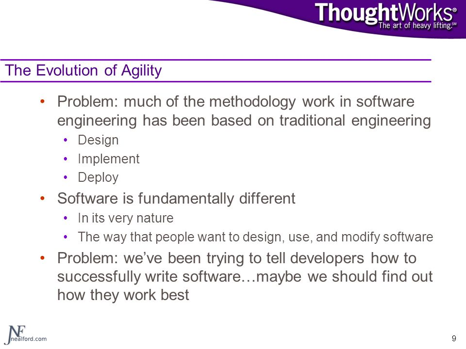 The Evolution of Agility