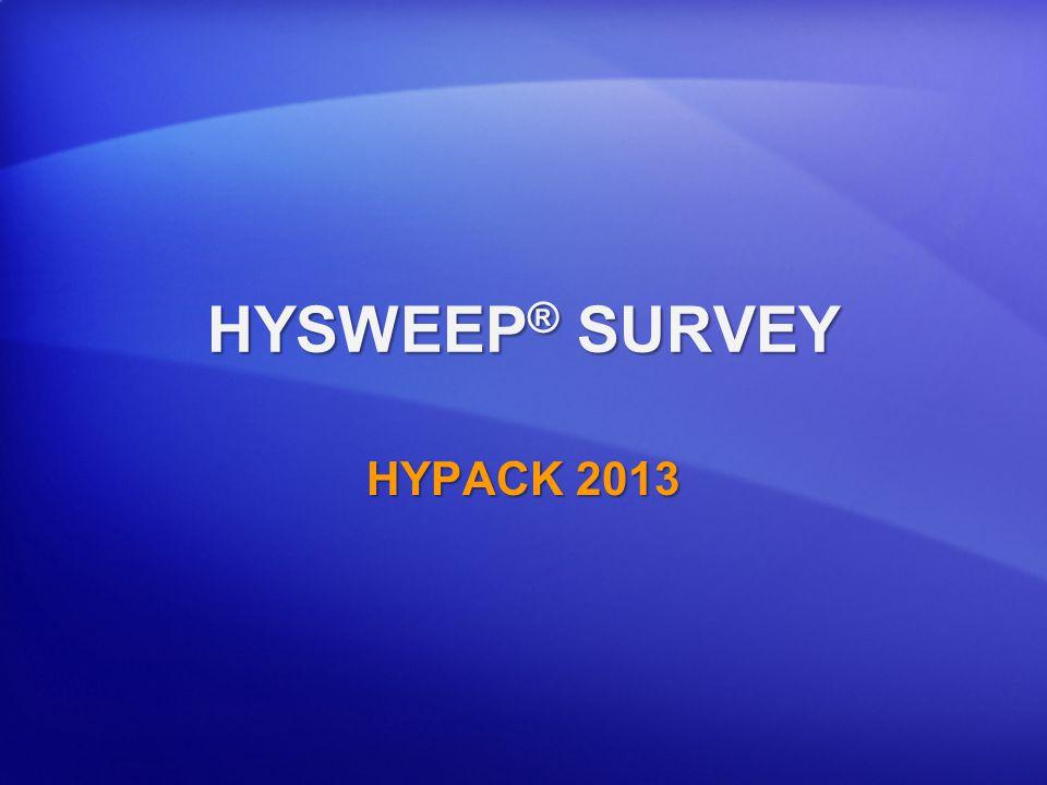 HYSWEEP® SURVEY HYPACK 2013