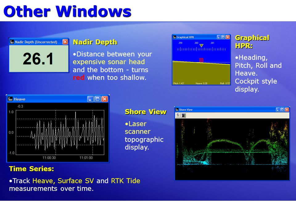 Other Windows Graphical HPR: Nadir Depth