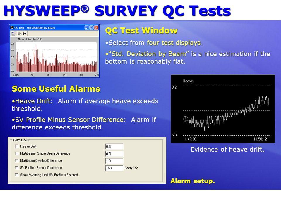 HYSWEEP® SURVEY QC Tests