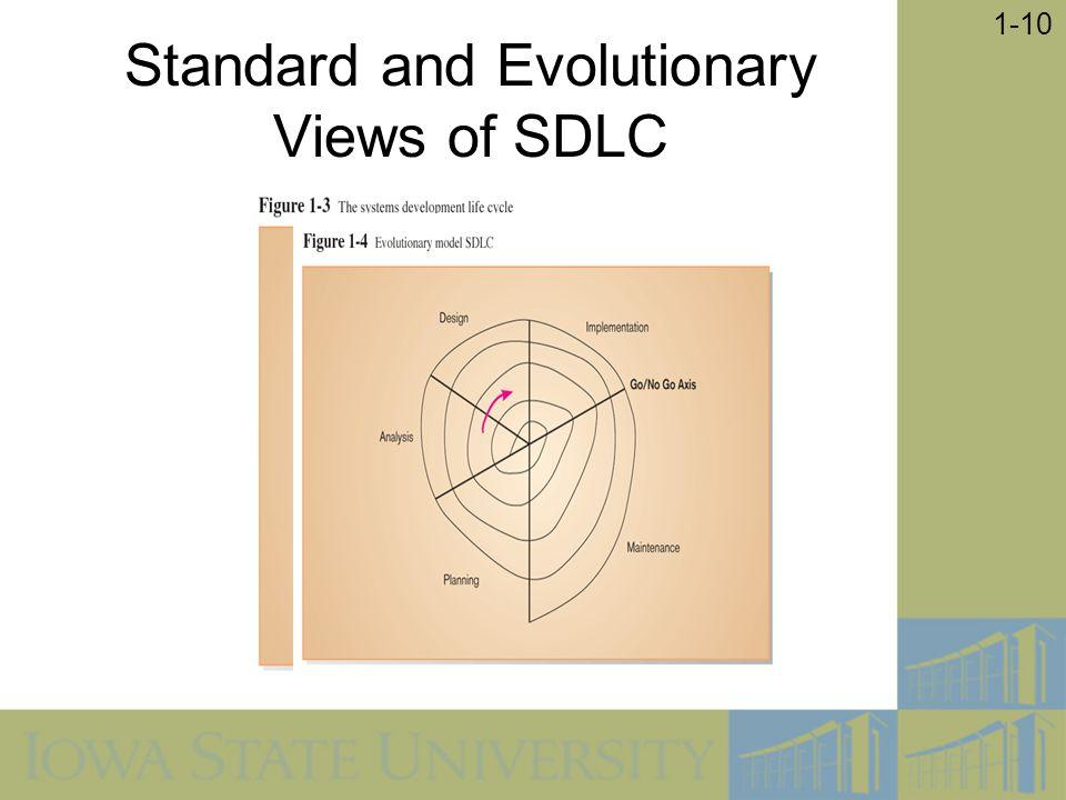Standard and Evolutionary Views of SDLC