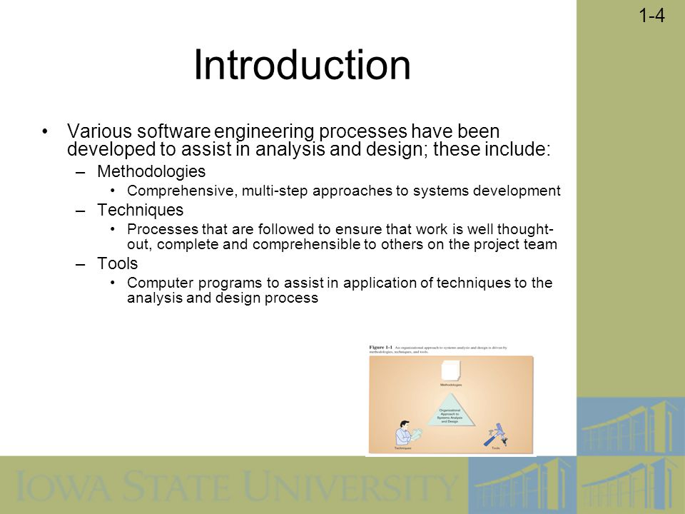 Introduction Various software engineering processes have been developed to assist in analysis and design; these include: