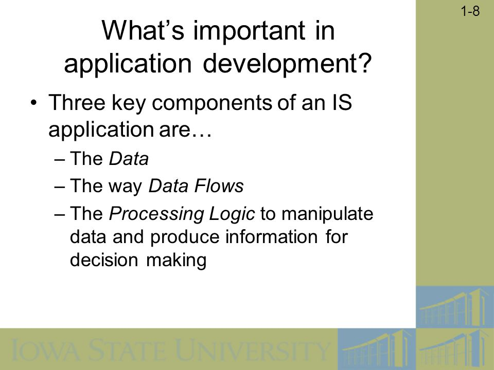 What's important in application development