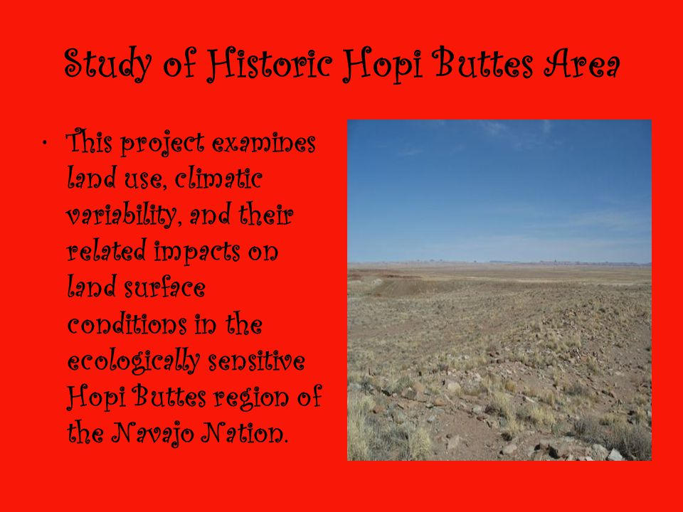 Study of Historic Hopi Buttes Area