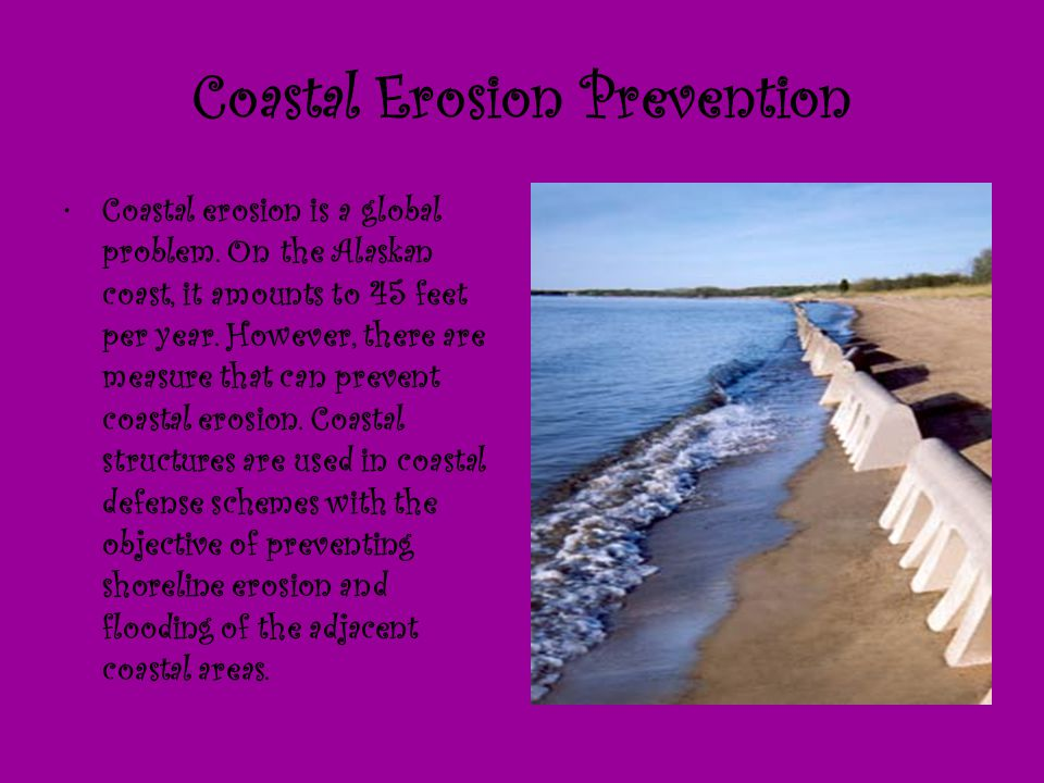 Coastal Erosion Prevention