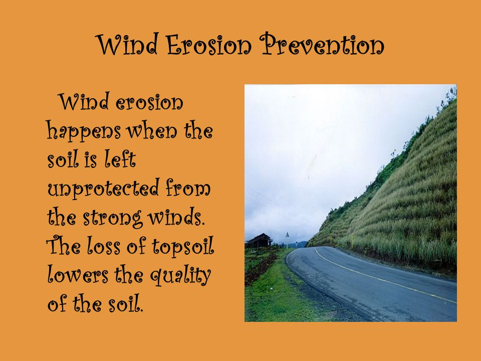 Wind Erosion Prevention