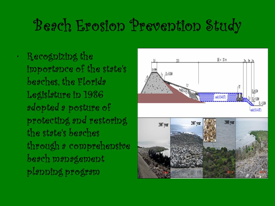 Beach Erosion Prevention Study
