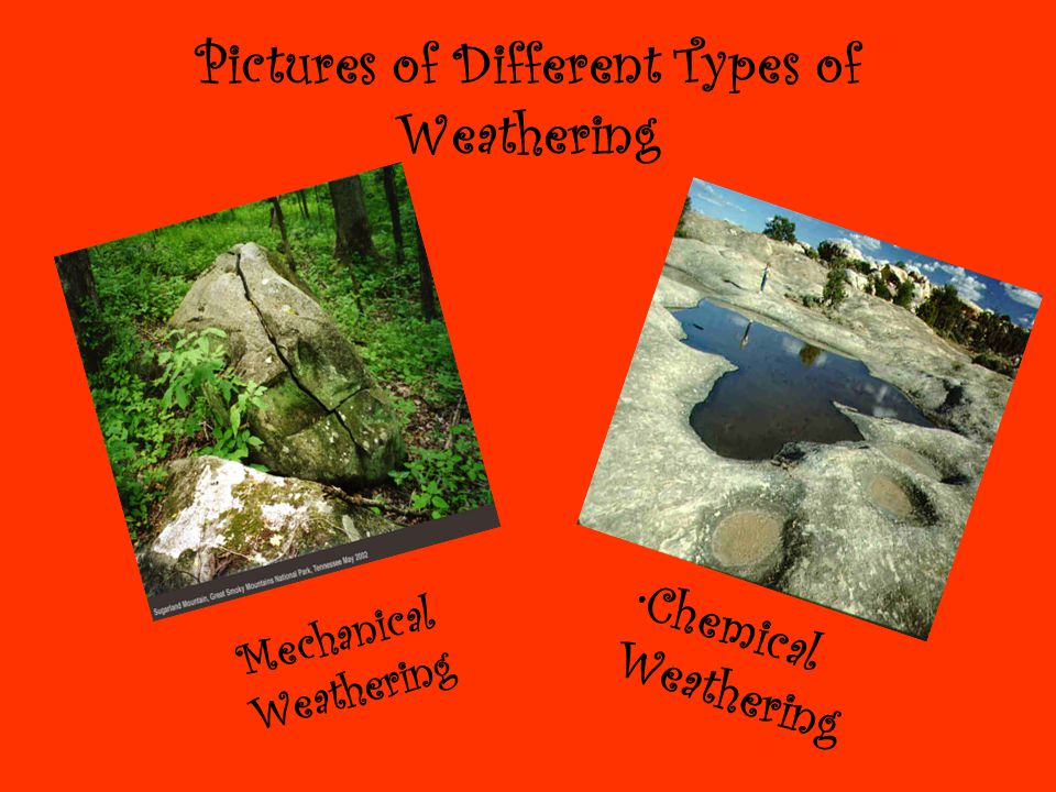Pictures of Different Types of Weathering