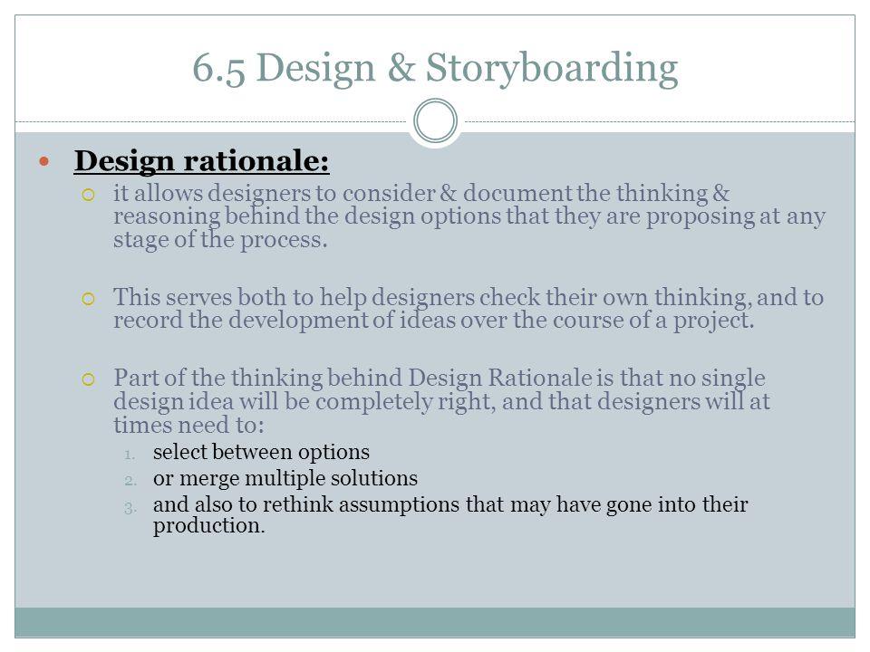6.5 Design & Storyboarding