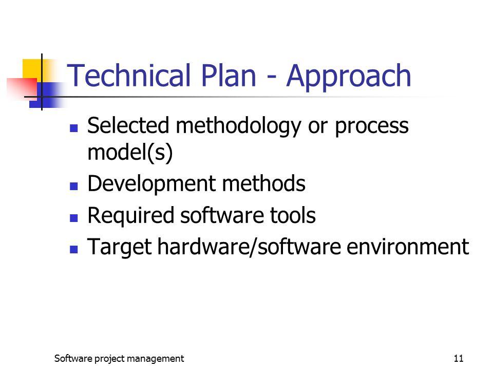 Technical Plan - Approach