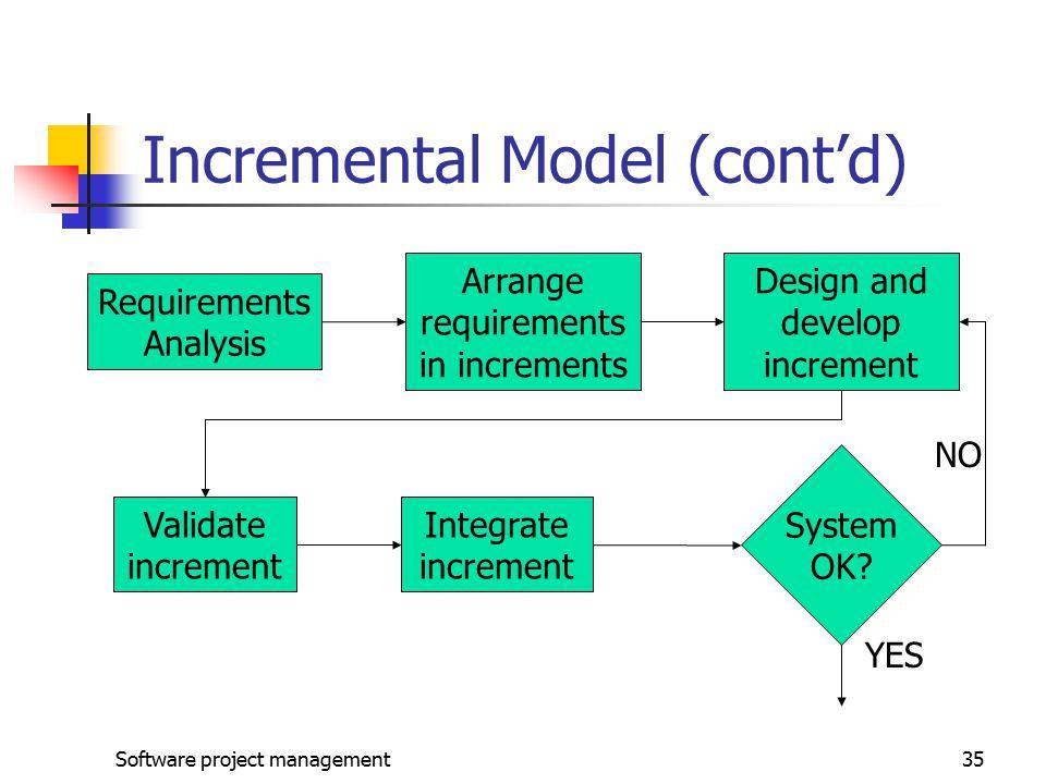 Incremental Model (cont'd)