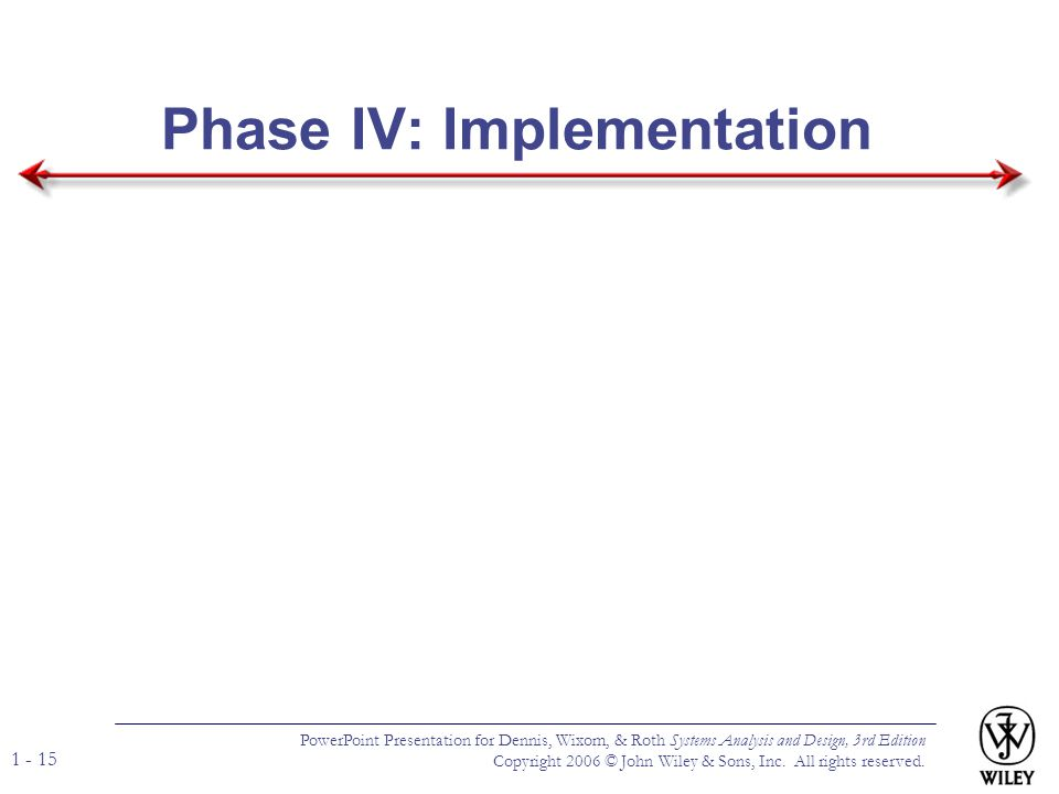 Phase IV: Implementation